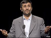 Iranian President Mahmoud Ahmadinejad speaks at Columbia University