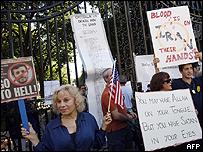 Protestas por la conferencia de Ahmadinejad