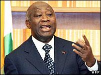 Ivory Coast President Laurent Gbagbo