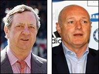 Peter Hill-Wood (left) and Chelsea chief executive Peter Kenyon