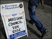 A headline on council tax