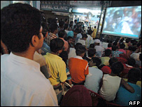 Indian fans watching the final game