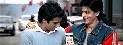 Shahrukh Khan and actor in advertisement