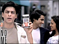 Shahrukh Khan in advertisement