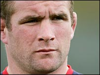 England captain Phil Vickery pictured during a training session
