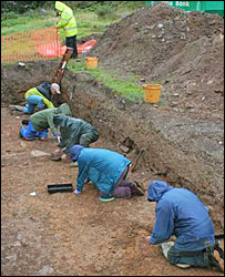 The dig at Maenclochog (Photo courtesy of Cambria Archaeology)