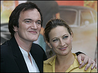 Quentin Tarantino and Zoe Bell