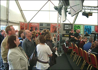Inside the main News & Sport On Tour tent