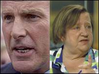 Leading trainer Sir Mark Prescott and celebrity chef Clarissa Dickson Wright