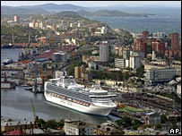 A cruise ship signifies Russia's increasing wealth