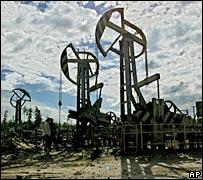Nodding Donkeys in a Russian oil field