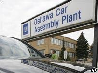 GM's Oshawa assembly plant in Canada