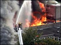 Sidney Stringer fire scene