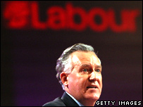 Peter Hain at the Labour conference