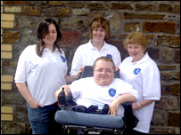 Richard Jones and staff from Accessible Wales
