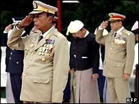 Miembros del gobierno militar birmano