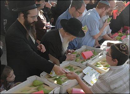 Man buying produce