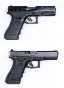 Glock replica and real Glock
