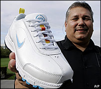 Sam McCracken of Nike, with the new shoe