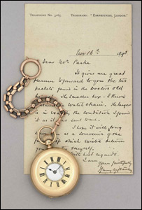 HM Stanley's gold watch and chain