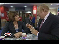 Tessa Jowell and Andrew Neil