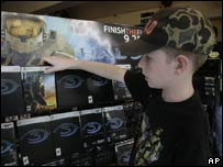 Tristan Greenwood, 12, looks at Halo 3