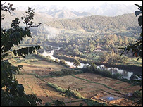 Paisaje birmano en la frontera con Tailandia.
