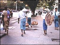 Una calle de Rang�n.