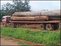 Timber truck in Ghana