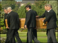 Colin and Johnny McRae's funeral