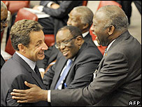 Sarkozy and Laurent Gbagbo