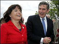 Barbara Follett and Gordon Brown