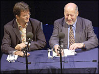 Paul Merton and Clement Freud record Just a Minute