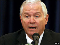 US defence secretary Robert Gates (file picture)