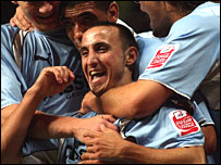 Michael Mifsud celebrates