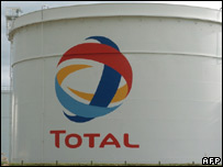 A Total refinery in France