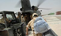 Parcels and letters arriving at Camp Bastion, the British Forces' main base in Helmand Province