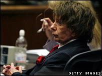 Phil Spector at the Los Angeles Superior Court (26.09.07)