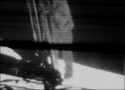 Neil Armstrong descends from the Apollo 11 lunar module. Image: Nasa.