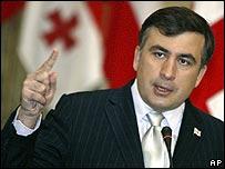 Georgia's President Mikhail Saakashvili (file)