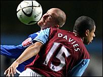 Aston Villa defender Curtis Davies