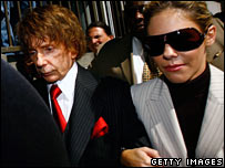 Phil Spector with wife Rachelle