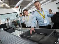 new X-ray machine at Heathrow terminal five