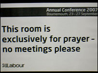 Labour conference prayer room