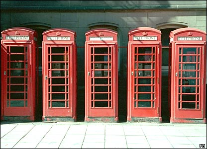 Five phone boxes in Middlesbrough featured on the Images of England website. Picture from Images of England/PA