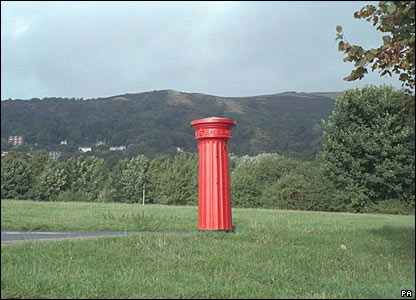 Listed pillar box at Malvern in Worcestershire. Picture from Images of England/PA