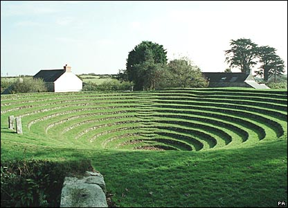 Gwennap Pit Methodist open air meeting place in Cornwall. Picture from Images of England/PA