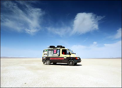 In the desert in Turkmenistan