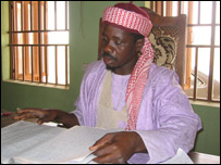 Judge Isah in his court in Zamfara, Northern Nigeria