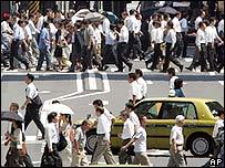 Tokyo street, Wednesday, Aug. 22, 2007.